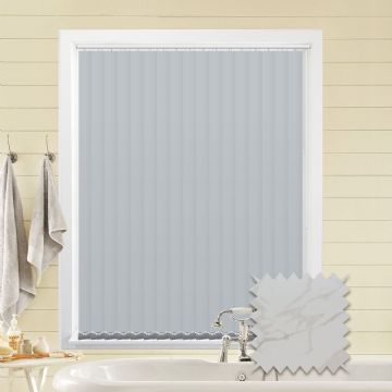 Made to Measure Vertical Blinds in PVC Blackout fabric in Picasso White